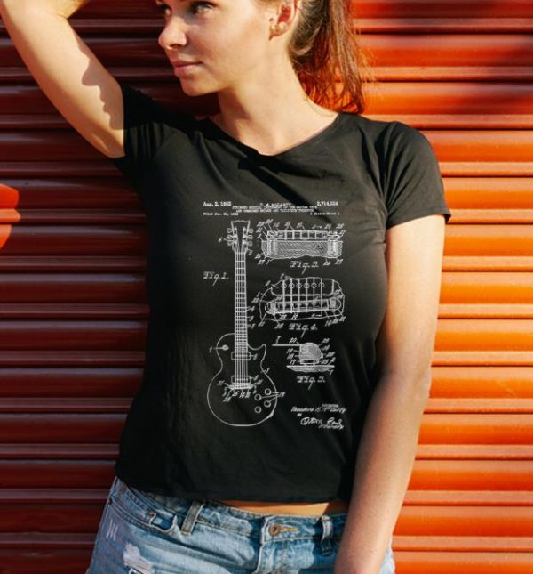 Hot Guitar Patent Print 1955 shirt