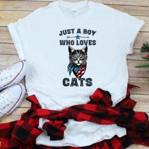 Hot Just A Boy Who Love Cat American shirt