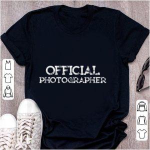 Hot Official Photographer shirt