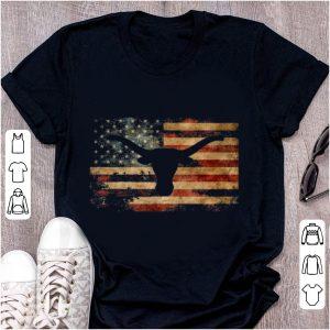 Hot Vintage American Flag Longhorn shirt