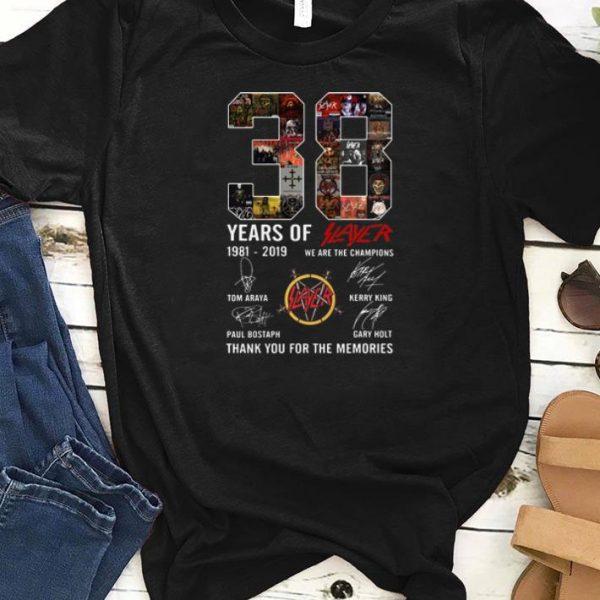 Nice 38 Years Of Slayer 1981-2019 signature shirt
