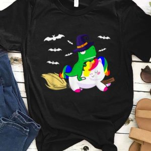 Nice Cute Dinosaur Unicorn Hat Witch Halloween T Rex Gifts shirt