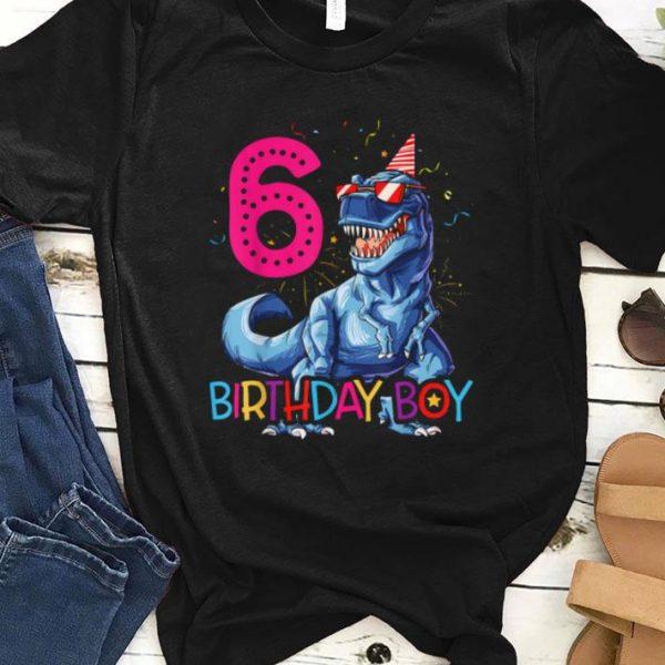 Nice Dinosaur T Rex 6 Year Old Kids 6th Birthday shirt