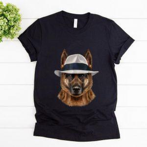 Nice German Shepherd Dog in Fedora Hat shirt