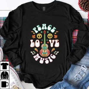 Nice Peace Love Music Guitar Hippies Retro