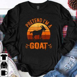 Nice Pretend I'm A Goat Funny Halloween Costume Gift shirt