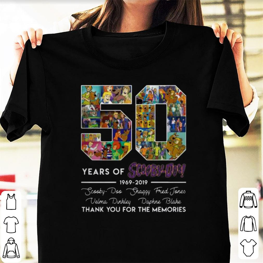 Official 50 Years of 1969 2019 Scooby Doo Signature Thank You For Memories shirt 1 - Official 50 Years of 1969-2019 Scooby Doo Signature Thank You For Memories shirt
