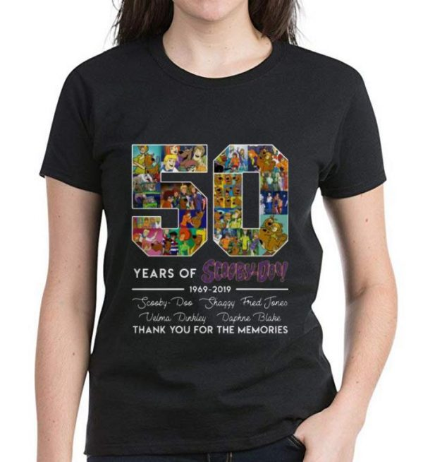 Official 50 Years of 1969-2019 Scooby Doo Signature Thank You For Memories shirt