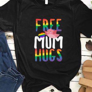 Official Free Mum Hugs LGBT Gay Pride Rainbow Bird Flag shirt