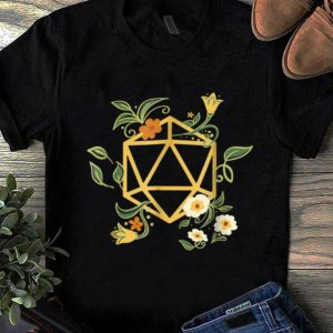 Official Geeky Polyhedral D20 Dice Set Plant Nerdy shirt