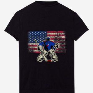 Official Ice Hockey Goalie USA Flag shirt
