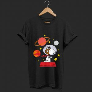 Official Peanuts Snoopy Space Pilot Mars, Moon And Saturn shirt