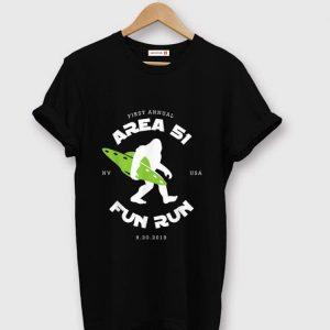 Premium First Annual Area 51 Fun Run Bigfoot Ufo shirt