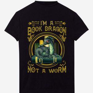 Premium I Am A Book Dragon Not A Worm shirt