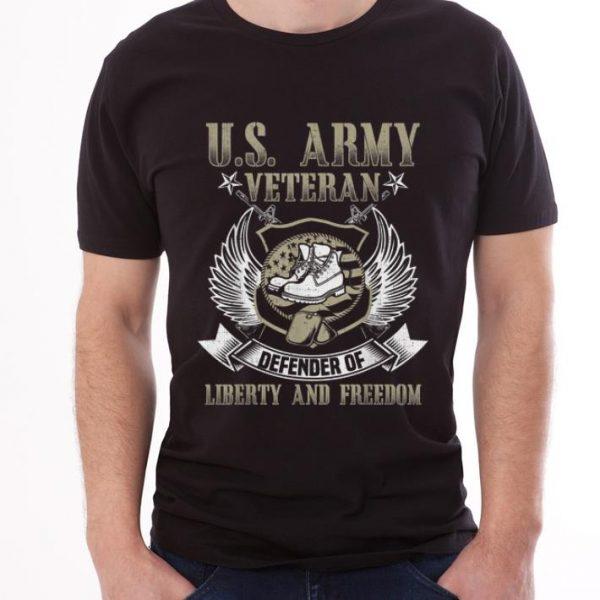 Premium US Army Veteran Defender Of Liberty And Freedom shirt