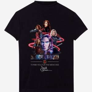 Pretty Black Widow Thank Your For The Memories Signature shirt