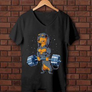 Pretty Dachshund Weightlifting Fitness Gym shirt