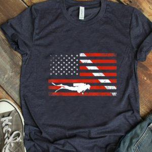 Pretty Diver Down American Flag shirt