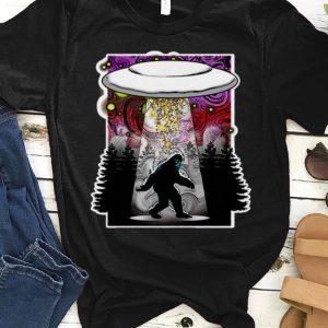 Pretty Extraterrestrial Flying Saucer Sasquatch Abduction shirt