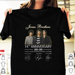 Pretty Jonas Brothers 14th Anniversary Signature shirt