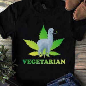 Pretty Vegetarian Weed Alpaca Pot Smoker Marijuana Cannabis shirt
