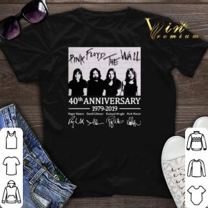 Signatures Pink Floyd The Wall 40th anniversary 1979-2019 shirt