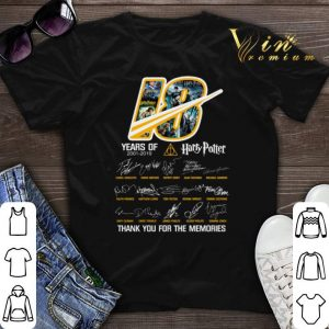 Thank you for the memories 18 years of Harry Potter 2001-2019 shirt