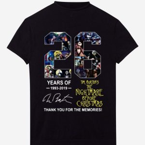 Top 26 Years of Tim Burton's The Nightmare Before Christmas signature shirt