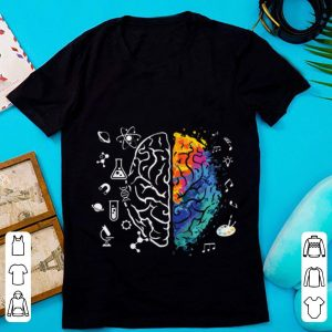 Top Colorful Brain Science And Art shirt