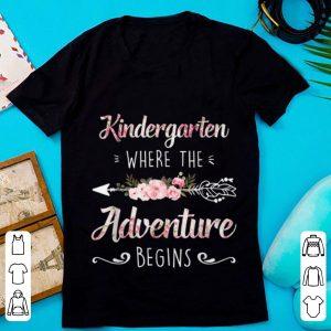 Top Kindergarten Where The Adventure Begins Floral shirt