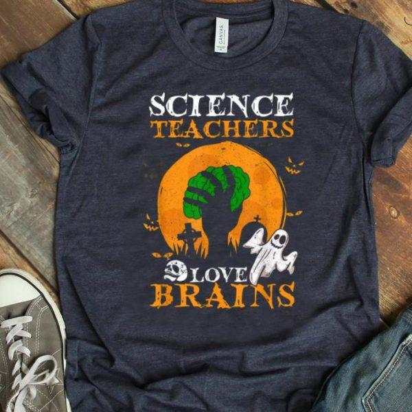 Top Teachers Love Brains Science Teacher Halloween Costume shirt
