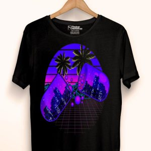 Vaporwave Aesthetic Retro Beach City Vaporwave Geometry shirt