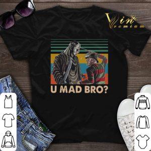 Vintage Freddy Krueger and Jason Voorhees U Mad Bro shirt
