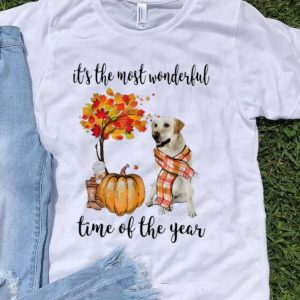 Awesome It's The Most Wonderful Time Of The Year Labrador Pumpkin shirt