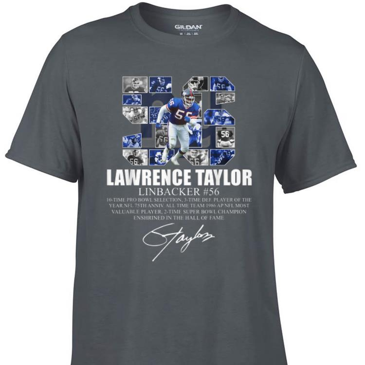 Awesome Lawrence taylor Linbacker 56 Signature shirt 1 - Awesome Lawrence taylor Linbacker 56 Signature shirt