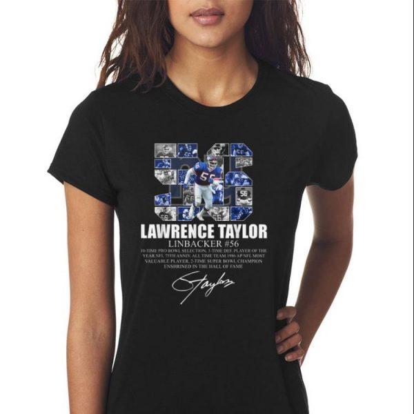 Awesome Lawrence taylor Linbacker 56 Signature shirt