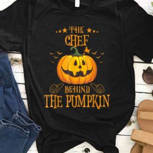 Awesome Mens The Chef Behind The Pumpkin Funny Halloween shirt
