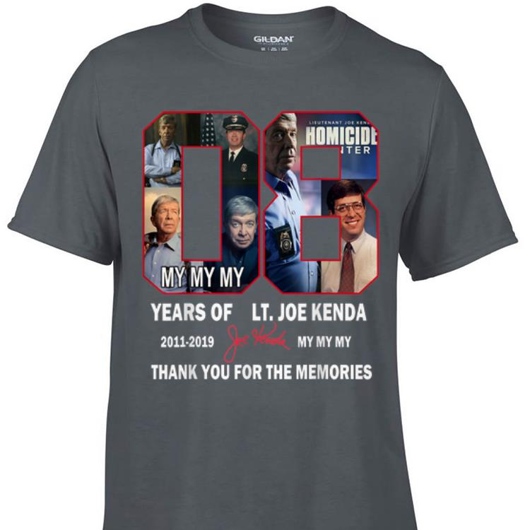 Awesome Thank You For The Memories Lt Joe Kenda 08 Years Signature shirt 1 - Awesome Thank You For The Memories Lt.Joe Kenda 08 Years Signature shirt