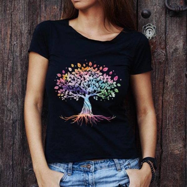 Awesome Unique Tree Colorful Life Is Really Good Vintage shirt