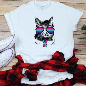 Cat Thyroid Cancer Awareness Sunglass shirts