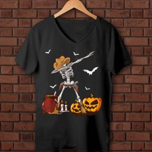 Funny Dabbing Skeleton Pumpkin Halloween For Kids Boys shirt