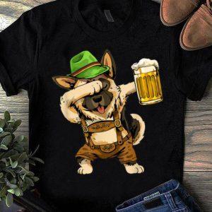 Hot Dabbing German Shepherd Dab Men Prost Drinking Beer shirt