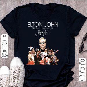 Hot Elton John Rocket Man The Definitive Hits signature shirt