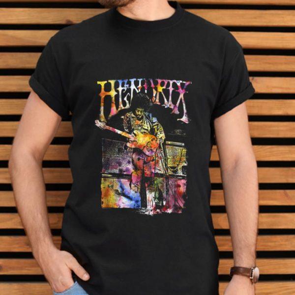 Hot Jimi Hendrix Watercolor Playing Guitar shirt