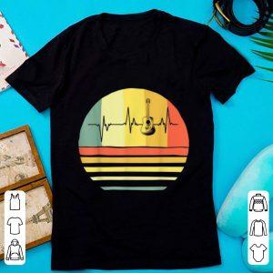 Hot Vintage Acoustic Guitar Heartbeat Guitar Player shirt