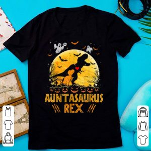 Nice Auntasaurus Rex Moon Halloween Family Matching Gift shirt
