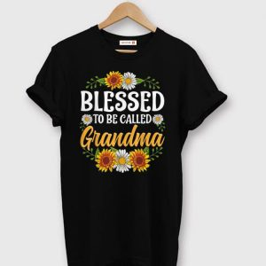 Nice Blessed To Be Called Grandma Sunflower shirts
