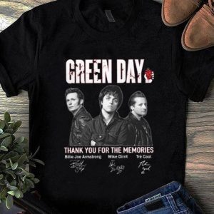 Nice Green Day Signatures Thank You For The Memories shirt
