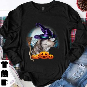 Nice Husky Witch Hat Dog Halloween Costume Gift Funny Dog Lovers shirt