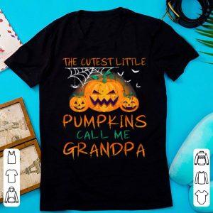 Nice Mens The Cutest Little Pumpkins Call Me Grandpa Halloween shirt